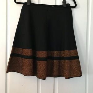 Black and shimmer copper skirt! NWT